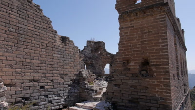 Ruins of the Great Wall, Hebei, China