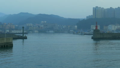 Ship departing from Yehliu Port, Taiwan