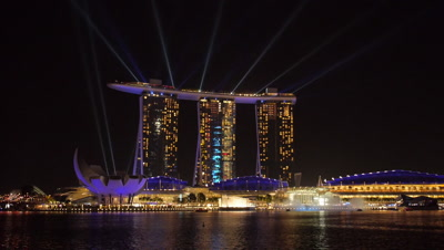 Light and Water Show in Marina Bay, Singapore