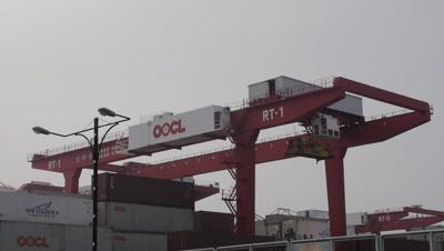 Gantry Crane in Kaohsiung, Taiwan