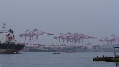 Gantry Cranes in Kaohsiung, Taiwan