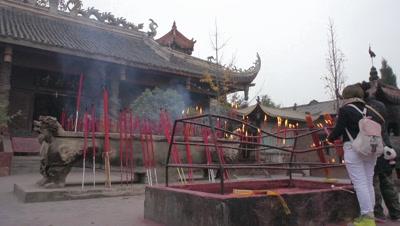 A Temple in Jiuzhaigou, Sichuan, China