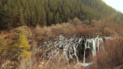 Waterfalls in Jiuzhaigou Valley, Sichuan, China