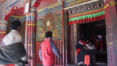 The Gate of Drepung Monastery, Lhasa, Tibet