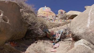 Rock Painting in Drepung Monastery, Lhasa, Tibet