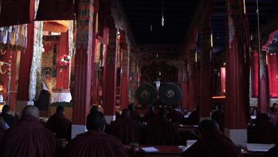 Interior of Samye Monastery, Qinpu, Tibet