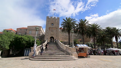 Entrance to Korcula Old Town, Croatia