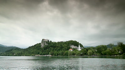 View of Lake Bled and Island, Slovenia