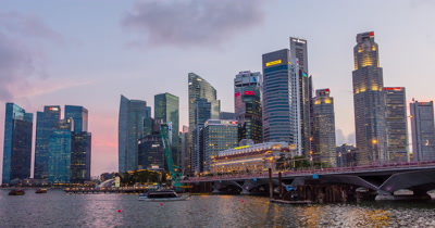 Time Lapse of High-rise Buildings in Singapore