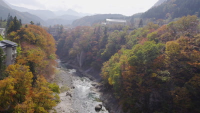 Aga river in autumn