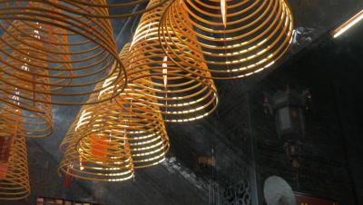 Incense Coils, Coloane, Macau, China