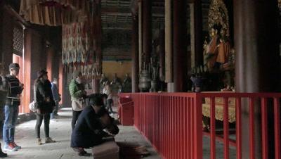 Interior of Lama Temple, Beijing, China