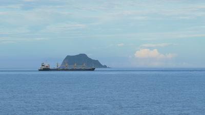 Cargo Ship Sailing on Sea, Taiwan