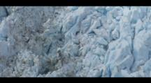 Tilt Up The Glacial Ice, Fissures, Of Fox-Glacier.