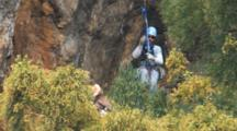 Climber Approaches Condor For Rescue