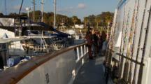 Humboldt Squid Fishing, Boat Departs Harbor