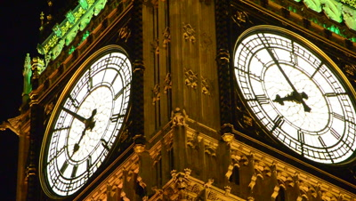 time lapse Big Ben clock hands moving,London