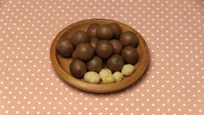 Macadamia nuts in bowl