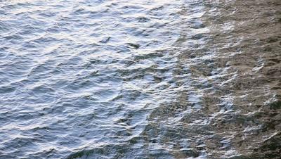 ripples on the sea surface at Tokyo Bay,Tokyo,Japan