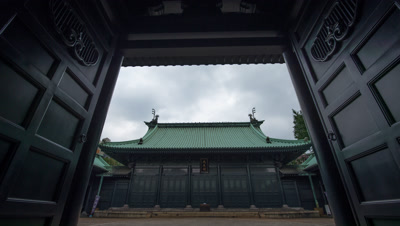 Time Lapse Zoom In View Of Yushima Seido Temple Entrance Gate,Tokyo,Japan
