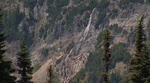 Waterfall At Mt. Rainier National Park