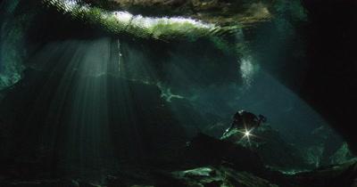 Cenote Mauricio Handler Stock Footage