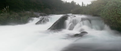 A fast flowing river in  Conguillio National Park, Chile