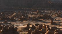 Desert Landscape With Small Rock Formations, Looks Like Moon