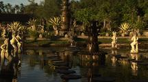 Temple Fountains, Pools And Statues