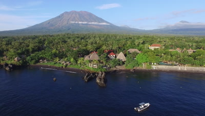 Dive Resorts on Bali from the air - Video Decor Reel
