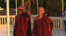 Buddhist Monks At The Temple In Kaw Thaung In Myanmar