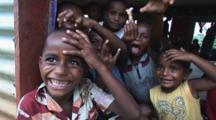 Smiling Fijian Boys At Navatu Village