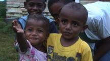 Fijian Children At Navatu Village