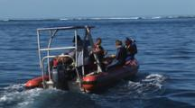 Rigid Inflatable Boat Transports Scuba Divers To Nigali Passage, Fiji