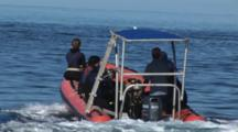 Rigid Inflatable Boat Transports Scuba Divers To Nigali Passage
