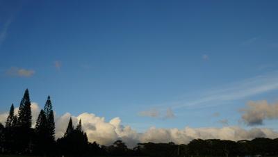 Cloud Time Lapse, horizon, Hawaii