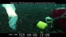 Diver Inspects Underwater Brine Tube