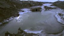 Water Rising And Falling, Freezing And Thawing, In Tide Pool