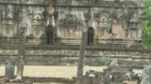 Toque Macaques At Ruins