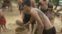 Indigenous People In Amazon Forest,Bullet Ant Ritual,preparing ants