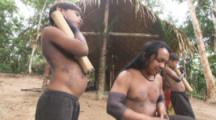 Indigenous People In Amazon Forest,Bullet Ant Ritual,children and man