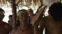 Amazon Bullet Ant Ritual,men dance with young man wearing ant gloves