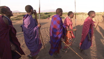 Masaai People Doing Preparations