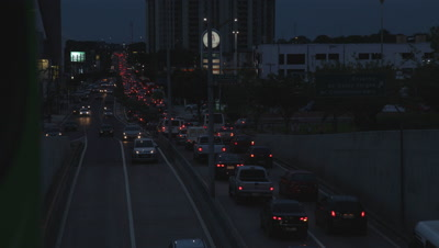 Time Lapse, Overlook Traffic Day to Night