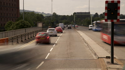 Time Lapse Of Traffic In Bristol City Centre