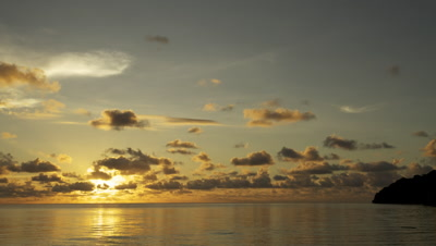 Time lapse of sun setting over the South China Sea in Malaysia