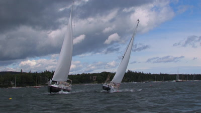 Ocean Sailing Stock Footage