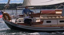 Morris Yachts Sailing In Maine