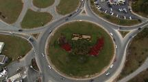 Cape Cod Traffic Circle Sign From Above