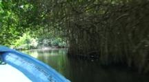 Travelling In Small Boat On Tropical River